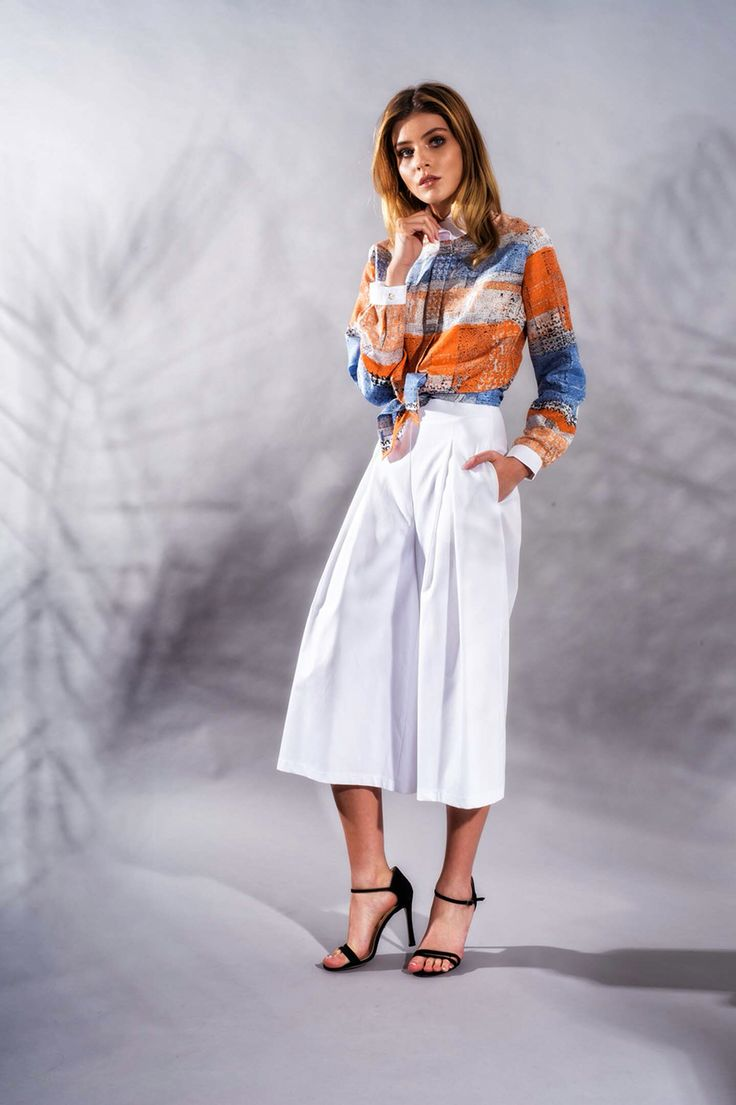 Silk Shirt and Cotton Culottes www.framboise.ro