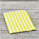 Papiertüten stripes 13x18 cm gelb