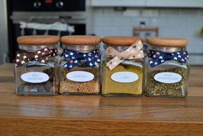 Słoiczki na przyprawy  DIY - hand made spices pots