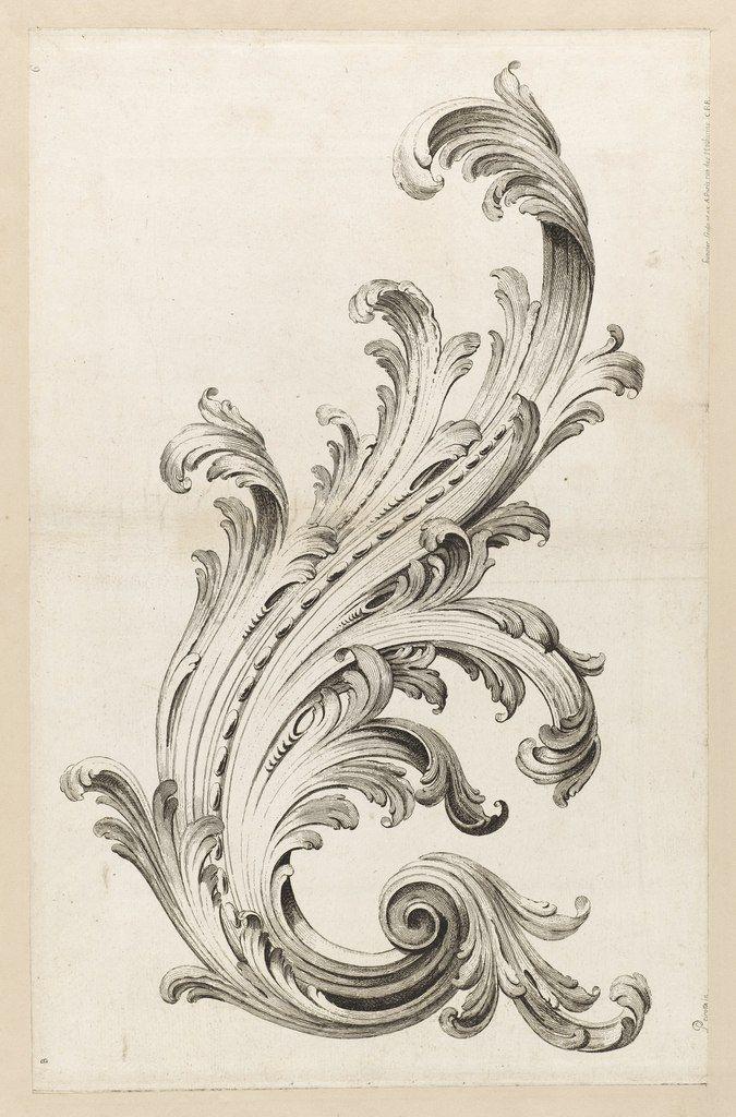 Alexis Peyrotte - французский декоратор эпохи рококо; рисунки из коллекции Купер-Хьюитт музея