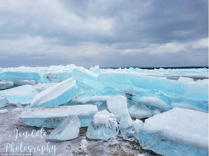 Blue ice occurs when snow falls on a glacier, is compressed, and becomes part of the glaci...
