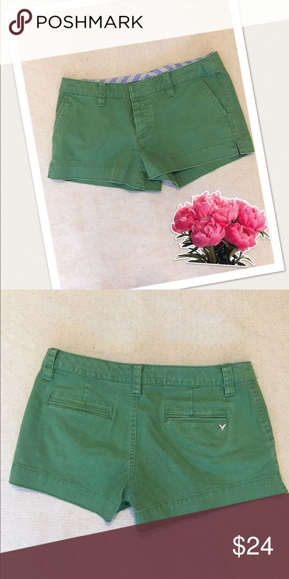 American Eagle Green Shorts Stretch shorts. 98% Cotton & 2% Spandex. Shorties. American Eagle Outfitters Shorts