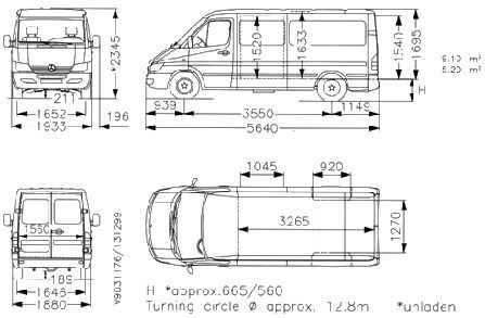 Image result for sprinter crew van box dimensions