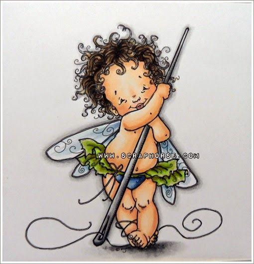 Copic Marker Europe: Baptism present. Skin: E11-21-00-000-R11 Hair: E49-47-44-42 Blue: B97-95-93-91 Wings: B91-000 Green: YG97-95-91-03 Needle: N6-4-2-0 Shadow: N4-2-1-0-Blender