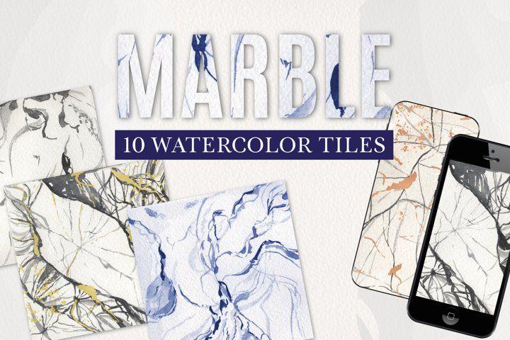 Marble Print Tiles Black White Blue Digital Paper Watercolor In 2021 Printed Tile Marble Print Digital Paper