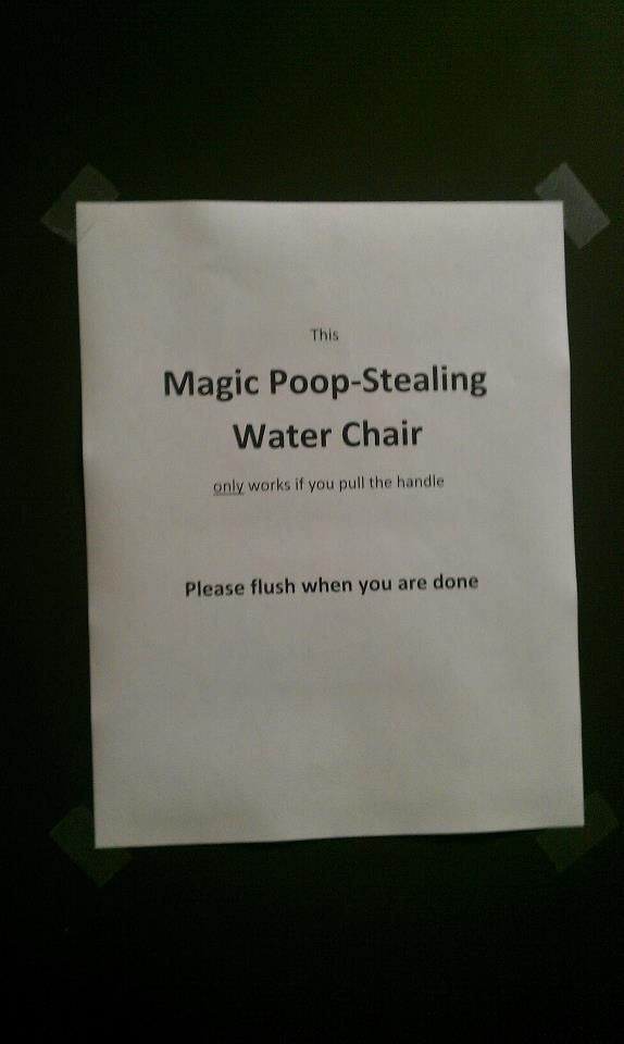MAGIC POOP-STEALING CHAIR HAHAHAHAA