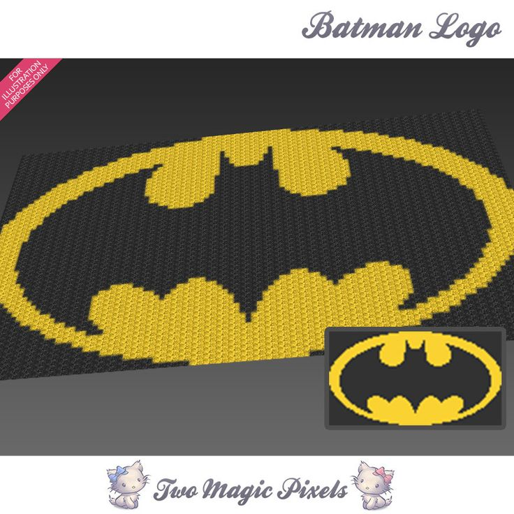 Logo Knitting Pattern : Batman logo inspired crochet blanket pattern knitting