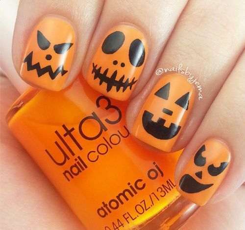 Halloween Nail Art Ideas That You Can Do Yourself In 2020 Pumpkin Nail Art Halloween Nails Easy Halloween Nail Designs