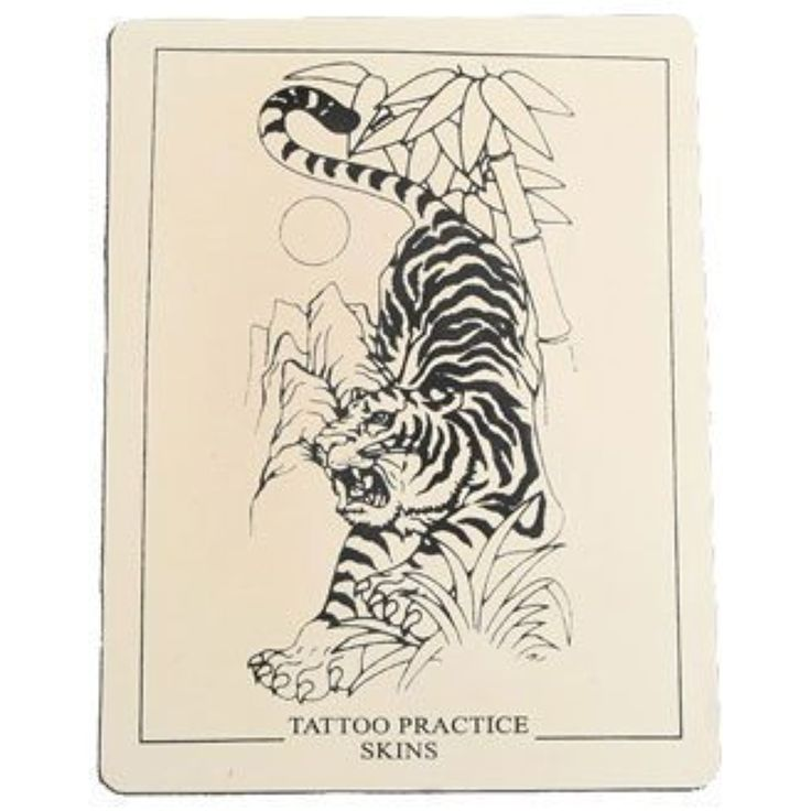 Tattoo practice skin, tiger ** Click image for more details. (This is an affiliate link and I receive a commission for the sales) #TattooSupplies