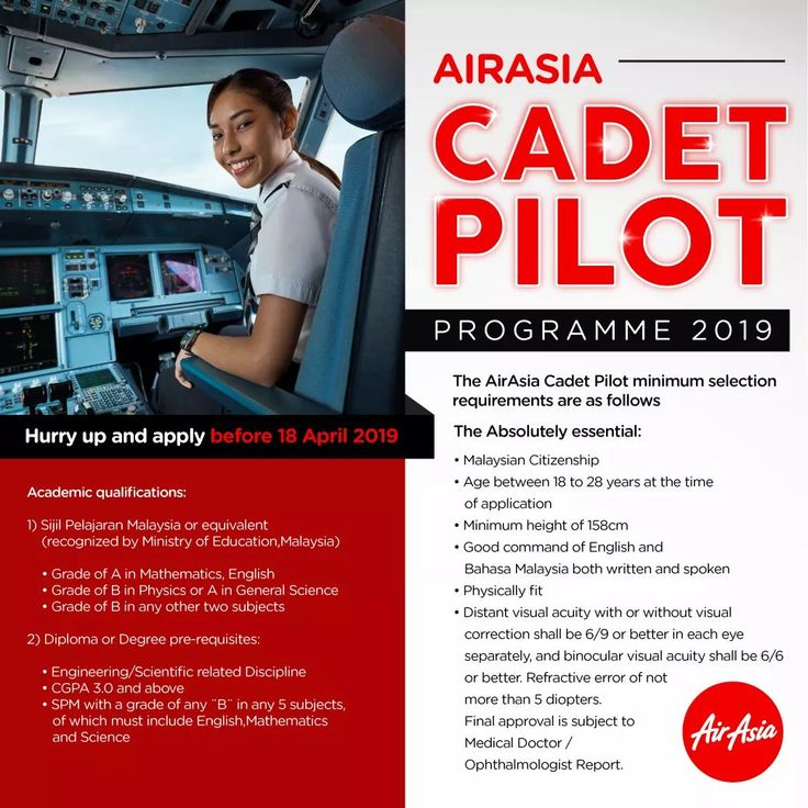 The Air Asia Cadet Pilot Programme 2019 Is Now Open Air