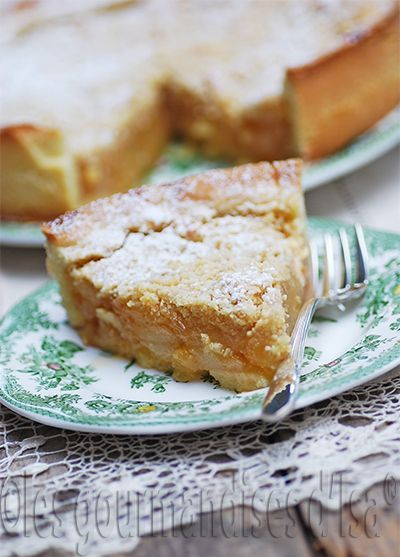 Les gourmandises d'Isa: TARTE CRUMBLE AUX POIRES CARAMÉLISÉES