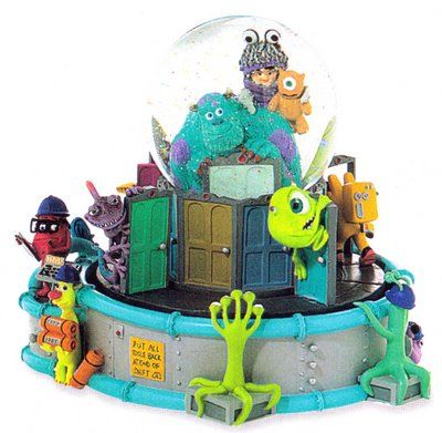 Monster's Inc. snowglobe (Disney Snowglobes Collectors Guide)