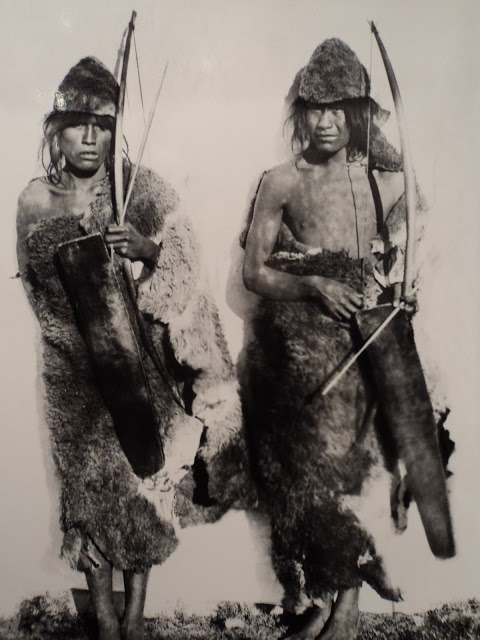 Two young Selk'nam in 1896 ANNE CHAPMAN SHOCKING, Isla Grande de Tierra del Fuego, Chile