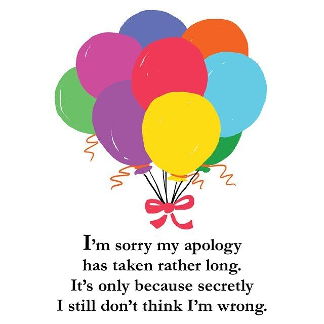 #sorrynotsorry 😁🎉 ALSO today is the last day to get 15% off the entire swag store when you use code THESTRUGGLE 🙌  #apology101 #adult #friendship #poetry #quarterlifepoetry #thestruggle #quarterlifecrisis #twenties #girl #funny #picoftheday #thestruggleisreal #20s #fall #autumn #humor #balloons #sorrynotsorry #fun #adulting #smile #drawing #humor #bestoftheday #art #instamood