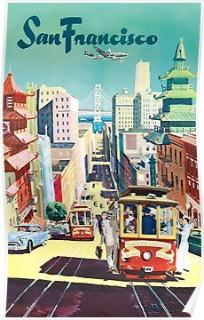 San Francisco – Vintage Travel Poster Poster
