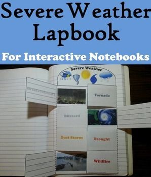 This lapbook on severe weather is a fun hands on activity for students to use in their interactive notebooks. Students may research different facts about each type of severe weather and write what they find on the provided blank lines.
