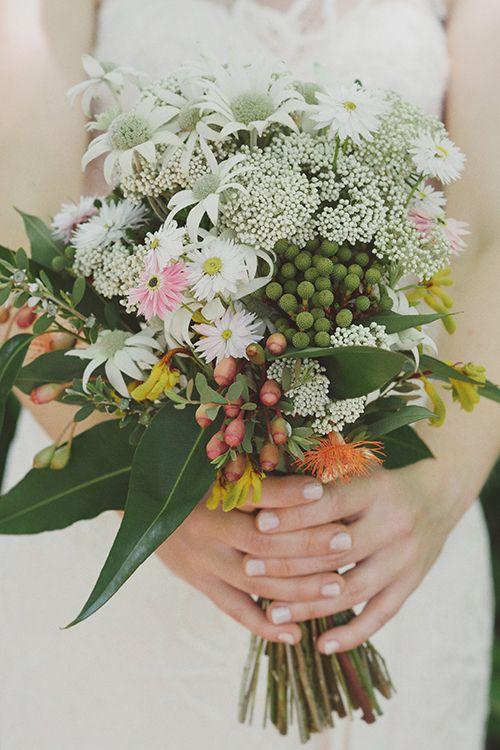 Native Australian bouquet, picnic wedding CJ Williams Photography