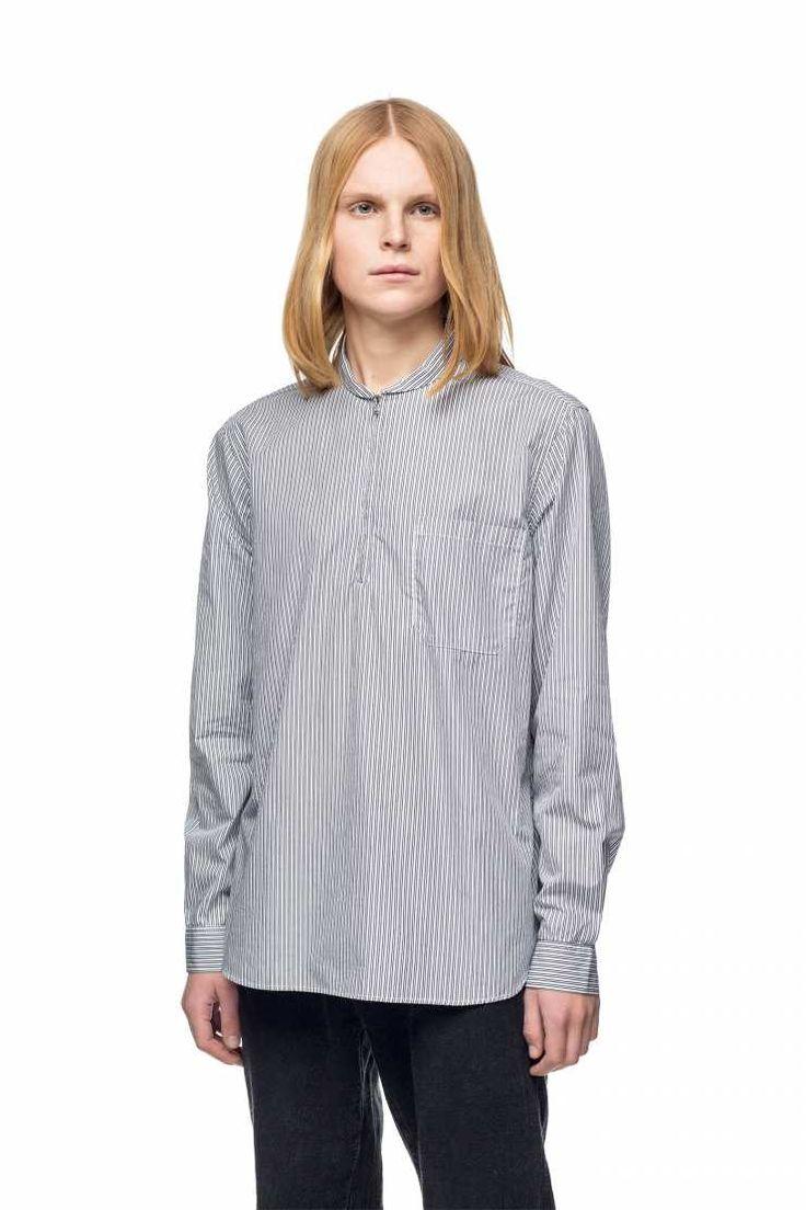 $235 OUR LEGACY - Shawl Zip Shirt