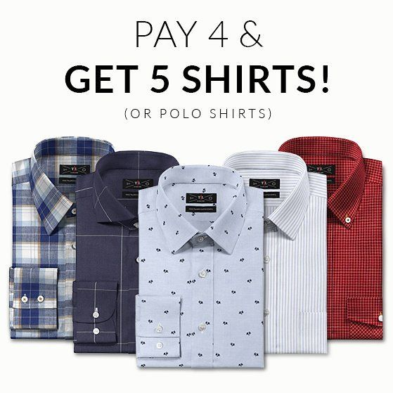 New Promo! Pay 4 and Get 5! Use the code FIVESHIRTS at Tailor4less.com (@Tailor4Less) http://Tailor4less.com