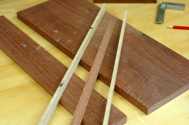 Step 2: The inlay pieces are cut to length and width