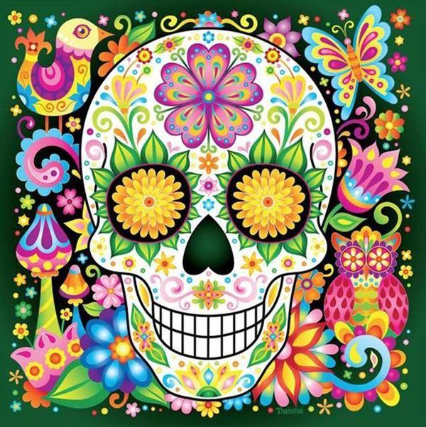 Frida Friducha Fridakhalo Skull