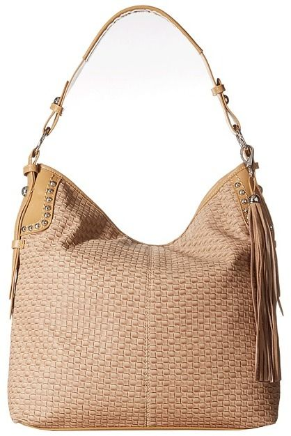 M&F Western Basketweave Large Shoulder Bag