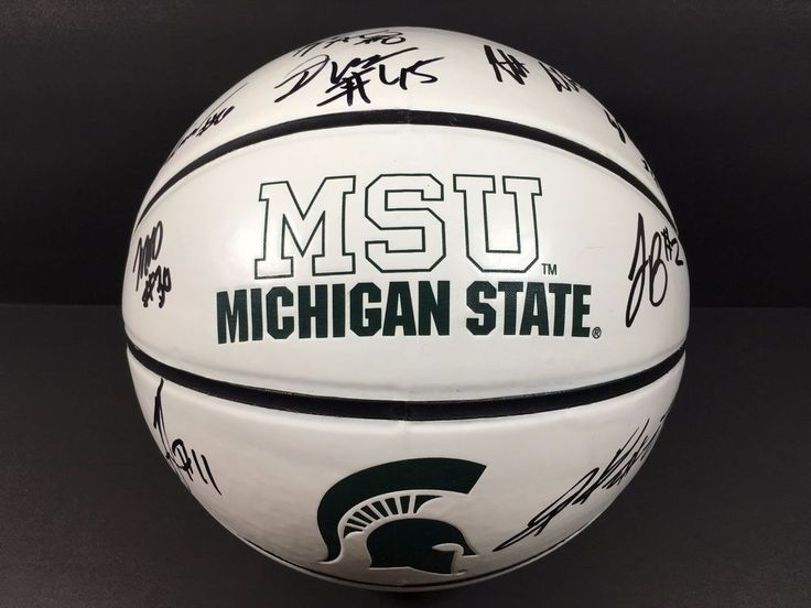 2016 michigan state team signed auto basketball msu denzel valentine coa ! from $299.99