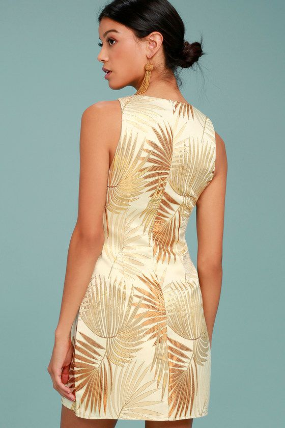 Royal Palms Gold Brocade Dress 3