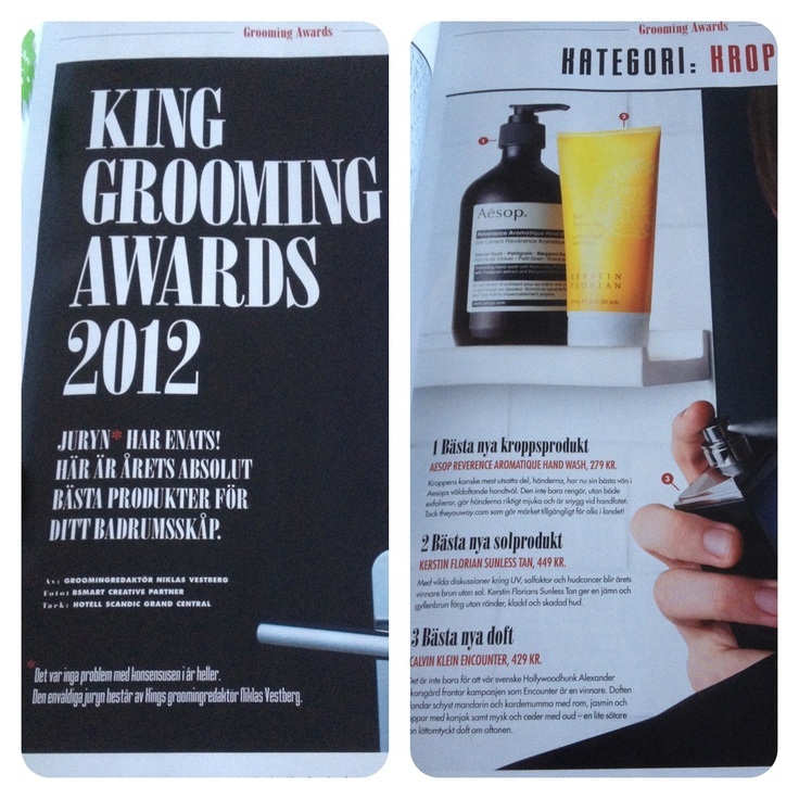 King Magazine gromming awards 2012 Kerstin Florians Sunless Tan http://www.lollostapel.se/king-grooming-awards-2012/