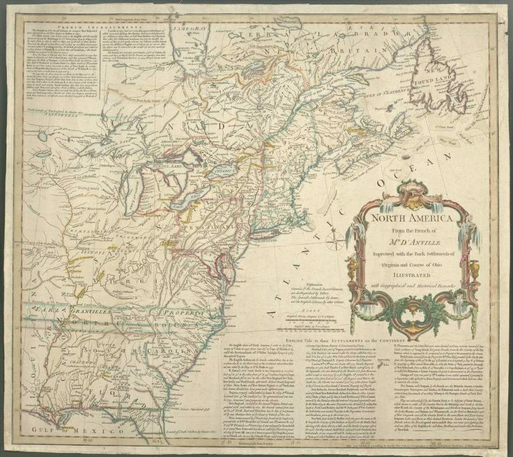 Antique Map East Coast Of United States 1755