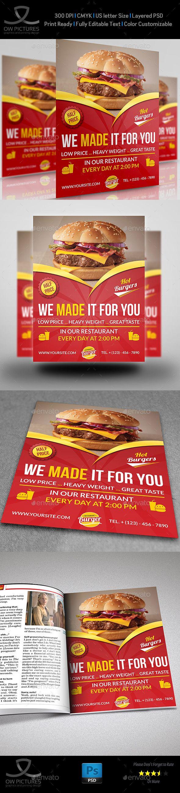 Restaurant Flyer Template #design Download: http://graphicriver.net/item/restaurant-flyer-template-vol7/10815248?ref=ksioks