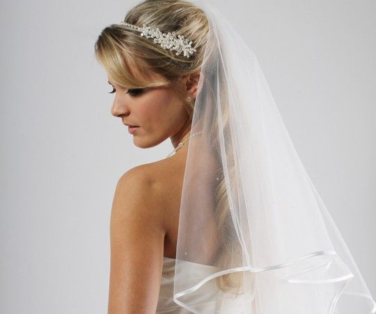 Ribboned Edge Veil  | The Bridal Room Atherstone | www.TheBridalRoomAtherstone.co.uk |  E: Info@TheBridalRoomAtherstone.co.uk | T: 01827 767 080