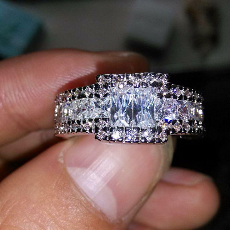 diamonique engagement rings qvc 44 - Diamonique Wedding Rings