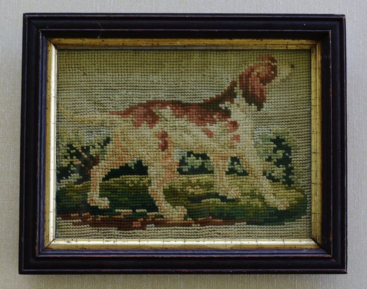 Small Antique Dog Needlework