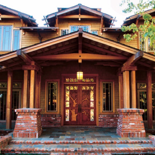 Love this house!: Wood Front Doors, Cabinet Fronts, Future House, Future Dreams, Dream Houses, Wood Doors, Craftsman Design