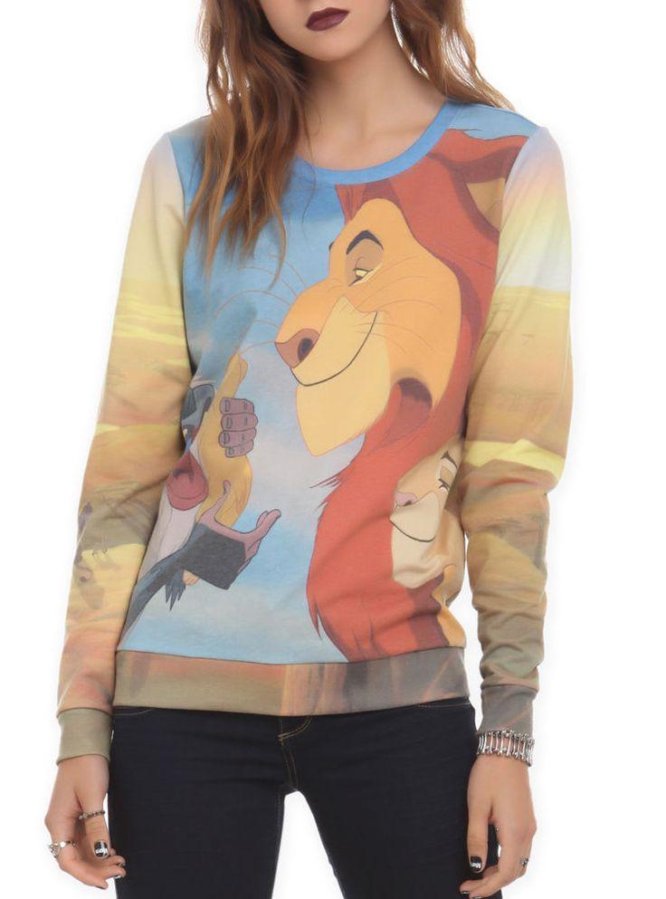 NWT Disney Lion King Simba Mufasa Sarabi & Rafiki Pullover Jumper Top Shirt M #Disney #Pullover