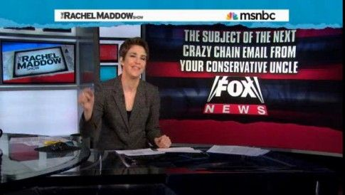 "She is intelligent, articulate, funny and truthful... how refreshing!   Rachel Maddow and MSNBC are experiencing double-digit ratings growth with younger viewers while Fox News has seen their viewership decline by 11% with persons age 25-54. According to MSNBC, ""The Rachel Maddow Show tops CNN for regularl"