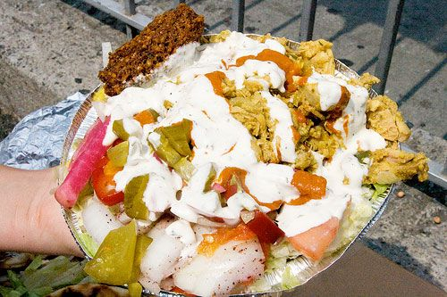 King of Falafel in Astoria: The biggest, best $6 plate of shawarma we know.