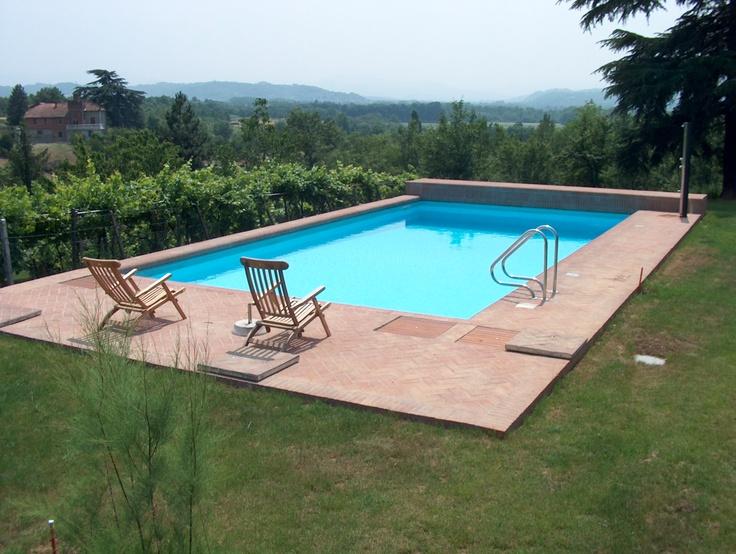 Oltre 1000 idee su piscina in cemento su pinterest patio per piscina calcestruzzo stampato e - Piscina in cemento ...