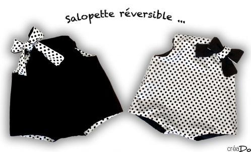 Salopette réversible pour bébé (tuto)