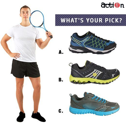 Which Action shoes pair will you pick for a game of Tennis?