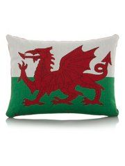 George Home Welsh Flag Tapestry Cushion