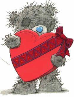 bear with valentine heart