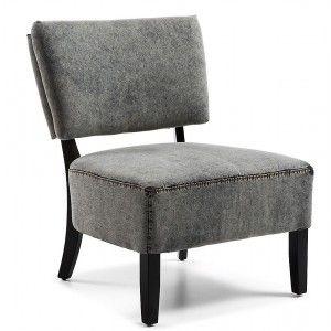 Grijze serena stoel met een erge dikke zitting om lekker zacht te zitten.