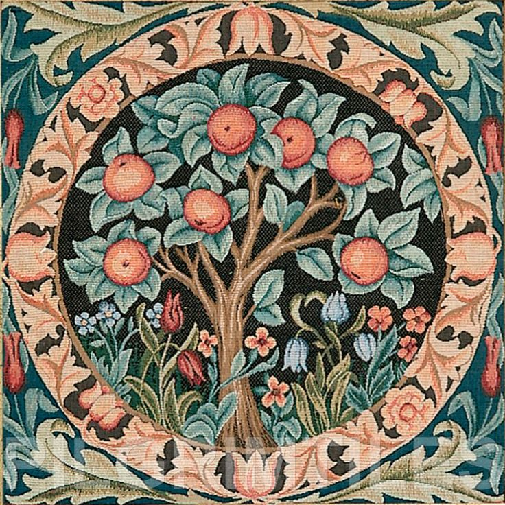 Mcdaniels Kitchen And Bath: William Morris Orange Tree Ceramic Tile Firplaces Kitchen