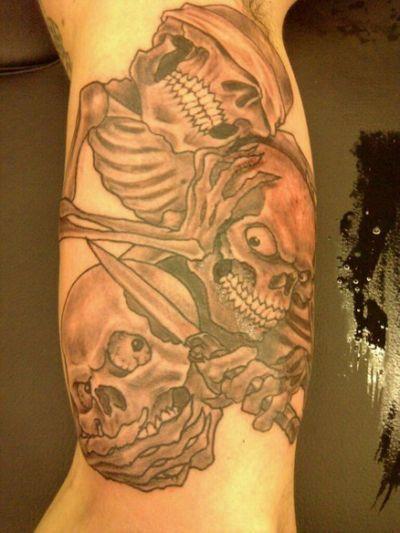 Tattoos Evil Evil See Female Evil No Speak No Hear No