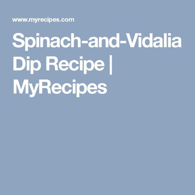 Spinach-and-Vidalia Dip Recipe | MyRecipes