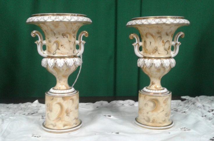 Fine pair of Victorian Ridgeways campana vases