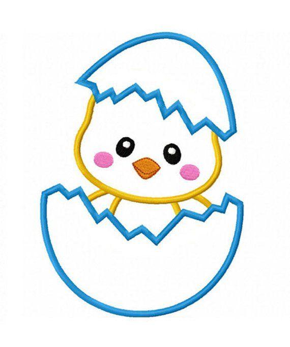 Easter Chicken-01 Applique Machine Embroidery Design NO:0145 ...