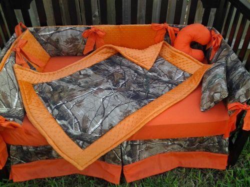 New-custom-made-Crib-Bedding-Set-m-w-real-tree-CAMOUFLAGE-camo-fabric